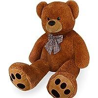 Deuba Ours XXL jusqu'à 1,60m–dans marron, crème ou blanc–Doudou Peluche Ours en peluche Teddy–Modèle Sélection 50–160cm