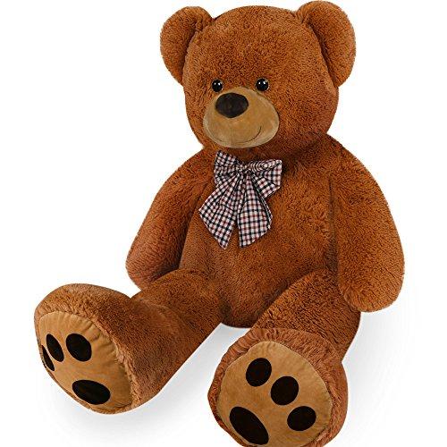 Descripción:   El oso tiene una cara muy simpática y una nariz suave y chata. Tan grande y hermoso, será perfecto para abrazar.  Un verdadero amigo para apoyarse.   Características del producto:  -XXL, 1 M -Color marrón -el abrazo y el amor - suave ...