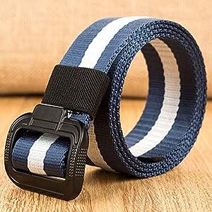 CHOUBAGUAI Gürtel Militärische Ausrüstung Gürtel Männer Taktische Gürtel Für Leinwand Doppelring Metallschnalle Gürtel Mode Unisex Casual Bund