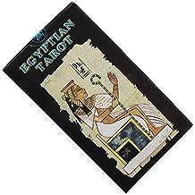 Baraja Egyptian Tarot por Silvana Alasia, Mazo de 78 cartas de Tarot Egipcio con instrucciones en inglés