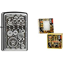 Zippo 15492 Mechero de Gear para ruedas de regalo