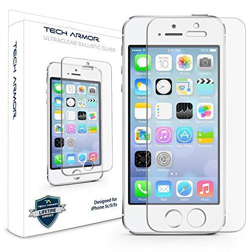 Tech Armor Protector de pantalla para iPhone 5/5c/5s de Apple   Cristal blindado