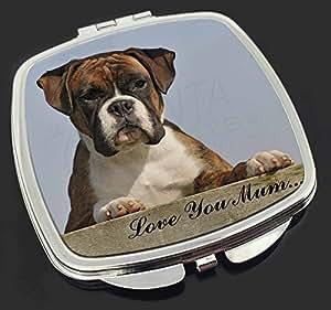 Ein Boxer-Welpe 'Love You Mum' Make-up Taschenspiegel Weihnachtsgeschenk