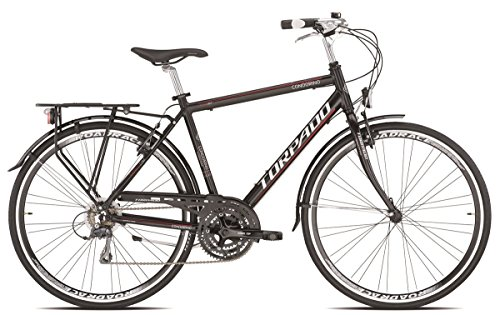 TORPADO BICICLETA CITY TURISMO CONDORINO 28 ALU 3 X 7 V NEGRO TALLA 60 (CITY)/BICYCLE CITY TOURING CONDORINO 28 ALU 3 X 7S BLACK SIZE 60 (CITY)