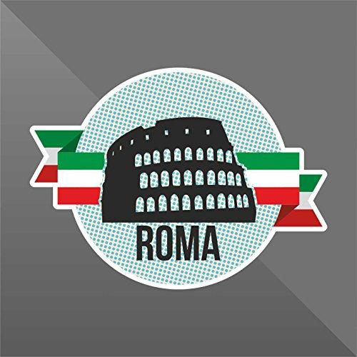 Sticker Roma Rome Rom - Decal Cars Motorcycles Helmet Wall Camper Bike Adesivo Adhesive Autocollant Pegatina Aufkleber - cm 10