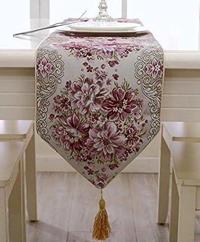CoFashion Luxury Classy Embroidery European Style Tassel Dining Manual Table