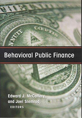 Behavioral Public Finance PDF Books