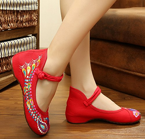 ICEGREY , Mary Janes pour femme Rouge