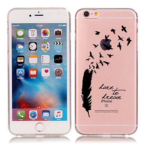 "iPhone 6S/6 Coque, LANDEE TPU silicone Coque pour iPhone 6S / iPhone 6 (4.7"") Housse Etui anti chocs Back Cover Bumper Case (6S-T-0201) 6S-T-0203"
