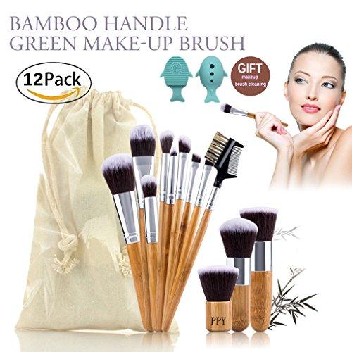 Pinceaux Makeup Brushes Maquillage Brosse Kit Bamboo 12 Pièces Ensemble Cosmétique Beauté Produit de Outils Professional Fondation Mélange