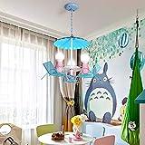 Kinderzimmer Pendelleuchte Modern Oldtimer Kreative Kinderlampe E27 * 3 Eisen Pendellampe Zeitgenössische Personalisierte Dekorative Hängeleuchte Für Kinderzimmer Mädchen Und Junge Schlafzimmer
