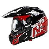 Nitro MX670 - Casco da moto Podium Adventure, colore: Bianco, Nero, Rosso