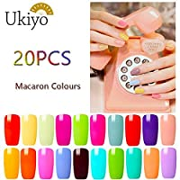 Ukiyo 20 Colours Gel Nail Polish Set Macaroon Starter Kit Manicure Varnish