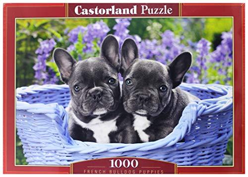 Castor País C de 104246-2French Bulldog Puppies, Puzzle de 1000Piezas