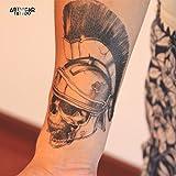 Tatuaggio Temporaneo Realistico di artista 'Gladatior' - ArtWear Tattoo Skull - B0129 M