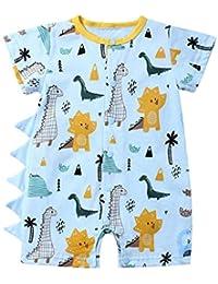 Divertido Pijama,K-Youth Mameluco Bebe Niño Recien Nacido Ropa Bebe Niña Body Bebe Manga Corta Pelele Bebe Niño Verano Mono para Niñas Bodies Bebés Niños Ropa de Dormir Infantil