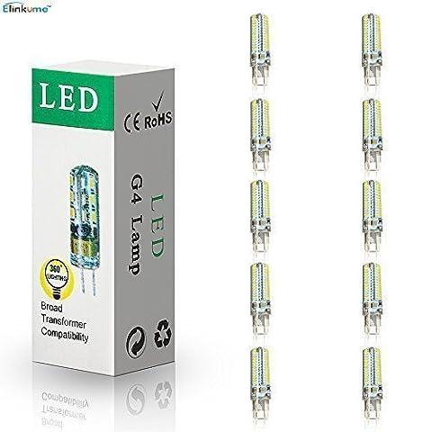 ELINKUME 10X G9 Ampoule LED 4W Lampe LED Super Lumineux