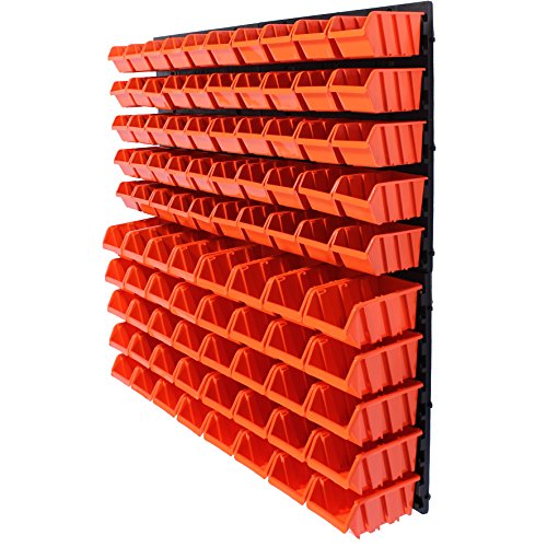 94 tlg.Wandregal Regal  Stapelboxen Gr.1&2 Box Werkstatt Lagerregal Regalsystem ( 7 teilige bis 156 teilige Sets zum Hammerpreis! )