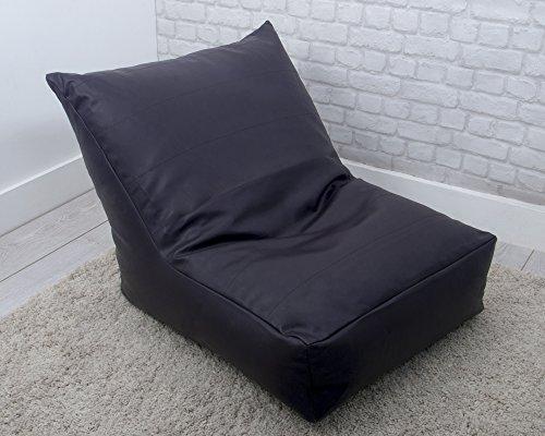 Kunstleder genarbt genäht Sitzsack in Aubergine–Perfekt für Gaming & Relaxing aus Bedding Direct UK (Genähte Kunstleder)