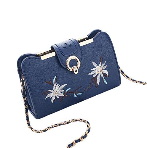 Borsa Selvaggia Catena Del Pacchetto Ms Messenger Bag Borsa Tracolla Estate Del Sacchetto Della Serratura Moda Personalizzata Blue