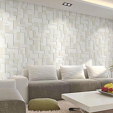 Contemporary Wallpaper Art Deco Rice Grey Wall Covering Non-woven Paper  Wall Art