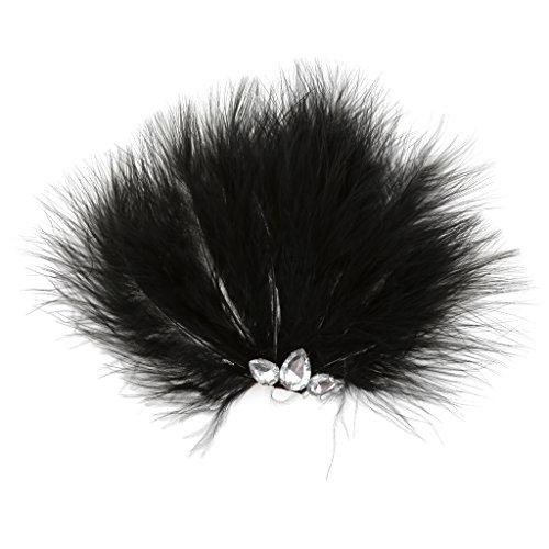 ante Feder-Haar-Clips Hochzeit DIY Haar-Dekor Schwarz # 1 (Schwarz Feder Haar Clip)