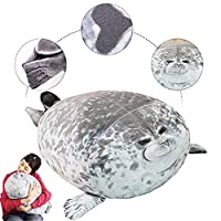 Abester Blob sealed pillows stuffed animals,Plush Toy Sea Animal Cushion Home Decoration (L)