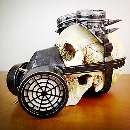Jiahe Gasmaske, Retro Winddicht Brille Gothic Atemschutzmaske für Maskerade Cosplay Halloween Kostüm Dekoration,B