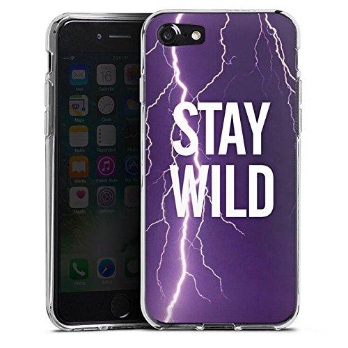 Apple iPhone X Silikon Hülle Case Schutzhülle Wild Sprüche Statement Silikon Case transparent