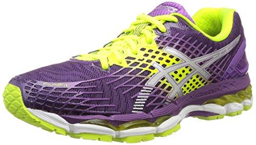 ASICS Gel-Nimbus 17, Chaussures de Running Entrainement Femme Violet (plum/silver/flash yellow 3793)