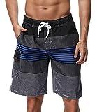 SHEKINI Herren Badeshorts Badehose Beach Shorts Bermuda Shorts Sommer Strand Sport Shorts Größen 28-36 (36, Dunkelblau)