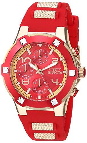 Invicta Women's Analog Quartz Watch with Silicone Strap 24194