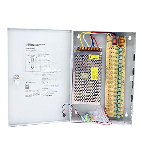 HAILI 12 V 10 A Netzteil Box 18 Ausgang Auto Reset Sicherung für CCTV DVR Überwachungsgeräte Zubehör Sicherheitssystem und Kamera 10a Power Supply Box