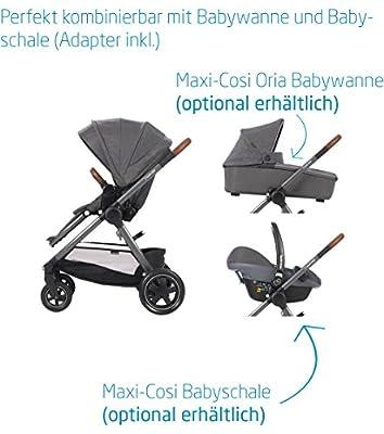 Maxi Cosi adorra komfortabler cochecito para su hijo, con riesigem cesta de la compra, einhändigem plegable mecanismo y poco peso de menos de 12kg de 0a hasta 3,5años aprox., color beige