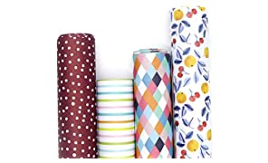 7mm Between the Lines Gift Wrappers - Colours (set of 4 sheets), 20 x 30 inch sheet