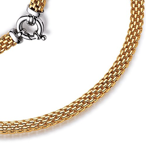 7mm Kette Collier Halskette Himbeere aus 585 Echt Gold Gelbgold 45cm Goldkette