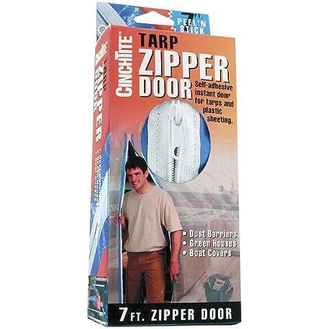 HOMAX PRODUCTS - 7-Ft. Peel 'N Stick Tarp Zipper Door