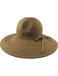3cd0c76ae22 50 s   60 s Lady s Brown Straw Sun Hat  Bardot  Style - One Size