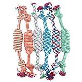 Yani DCT-8 Hunde Lieblings Kauen Knoten Spielzeug geflochten Haustier Knochen Baumwolle Seil Durable Sicherheit Reinigungsspielzeug