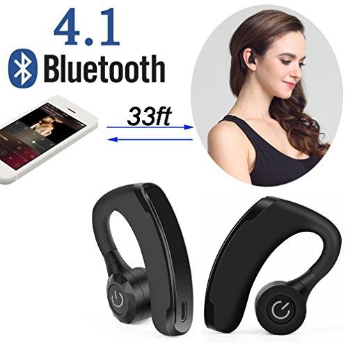 Xshuai Long Life Span Dual Wireless True Zwillinge Universal Bluetooth Stereo Headset In-Ear Kopfhörer HD MIC(Schwarz) Dual-bud-stereo