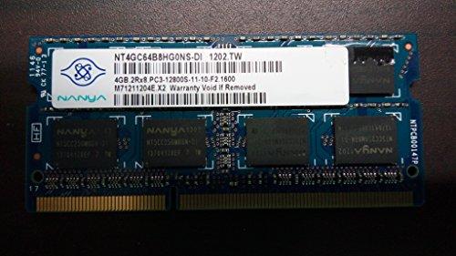 Nanya Nt4gc64b8hg0ns-di 4gb Notebook Sodimm Ddr3 Pc12800(1600) Unbuf 1.5v 2rx8 204p 512mx64 256mx8 C