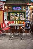 Tresentisch, Thekentisch, Esstisch, Küchentisch, Diner-Tisch, American Diner, Esszimmertisch, rechteckig, weiß, verchromt, Oldschool, Vintage