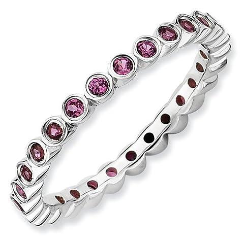 Stackable Expressions - 925 Sterling-Silber Sterling-Silber 925 Rundschliff rot pink/rosa Grenat Rhodolit / Granat