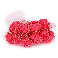 TININNA Artificiale Fiori ,144 pz Mini fiori carta rosa di Nozze Fai Da Te per bomboniera artigianale .-rosso