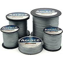 Aorace Braid línea de pesca 40LB fuerte y resistente a la abrasión línea de pesca 300M de Fibra Gris Material avanzada Superline braied fishing line