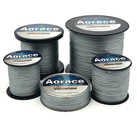 Aorace Braided Line Grey Color Braided Fishing Line 4 Strands 1000M Braid Fishing Line 70Lb Super Strong Braid Line PE
