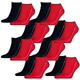 Levis Unisex Sneaker Low Cut 168SF 8er Pack, Größe:35-38, Farbe:Red/Blue (505)