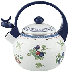 Villeroy & Boch Cottage Kitchen Teekessel, 2 l, Metall, Bunt/Blau