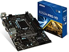 MSI B250M Pro-VD - Placa base gaming (S1151 MATX, DDR4, 7A74-002R) color gris