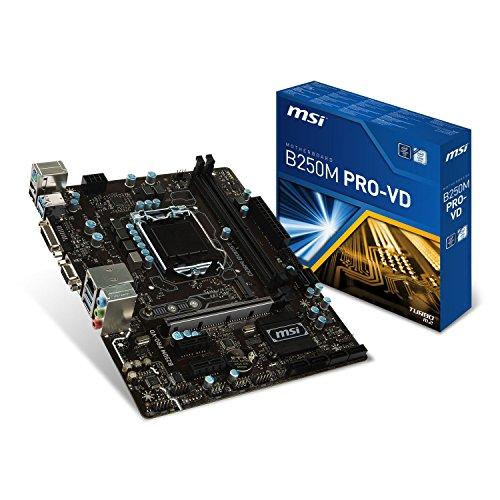 MSI B250M PRO-VD LGA 1151 Intel B250 SATA 6Gb / s USB 3.1 Placa madre Micro ATX Intel